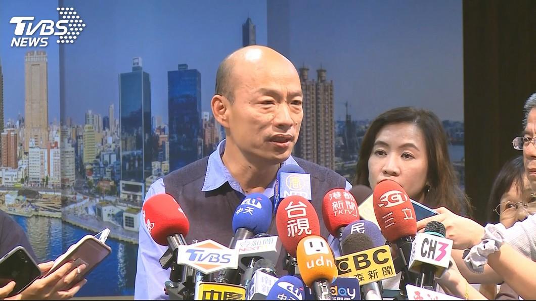 高雄市長韓國瑜。圖/TVBS 蔡英文酸「快還海洋局辦公室」 韓怒:失去總統格局!