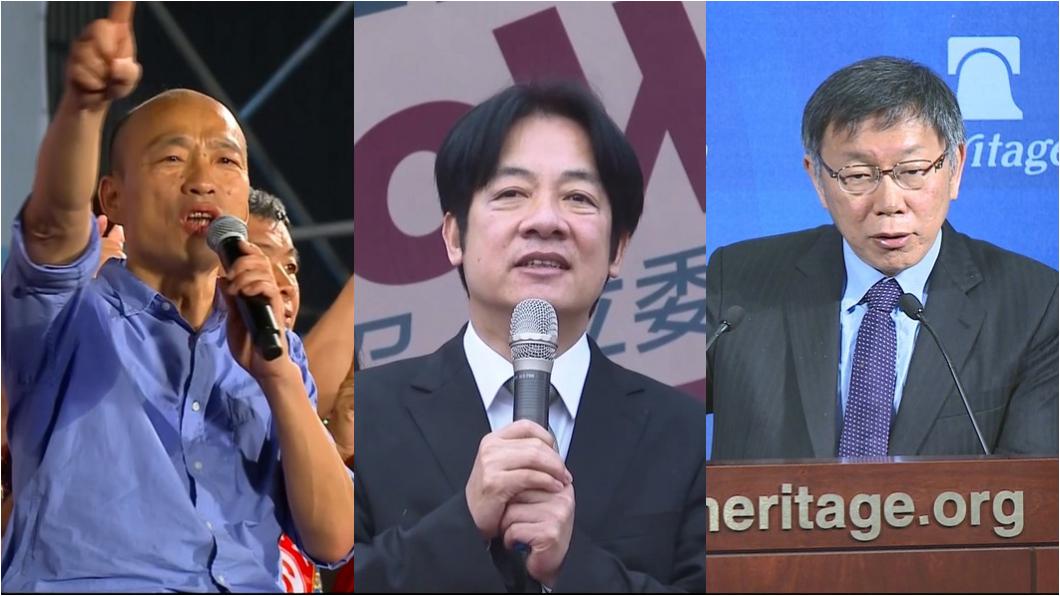韓國瑜、賴清德、柯文哲合成圖/TVBS 命理師指「這3人」最有當選強運 韓國瑜只能這樣做