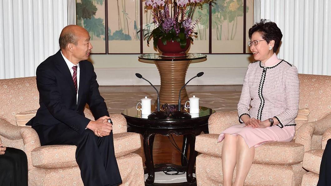 圖/港府提供 港特首林鄭月娥會晤韓國瑜 盼推進兩地交流