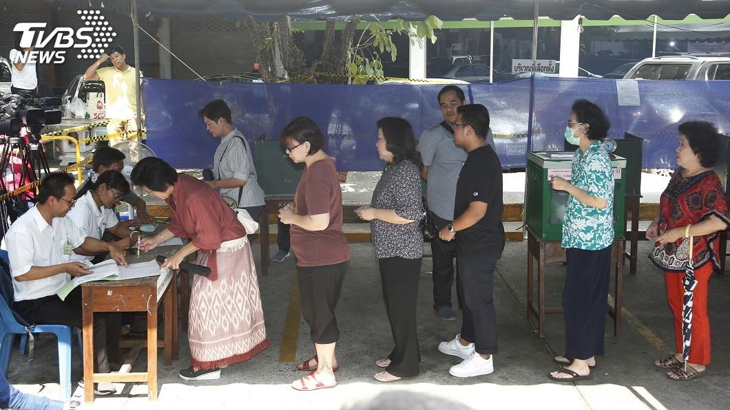 圖/達志影像美聯社 2014軍事政變後第一次 泰國國會大選登場
