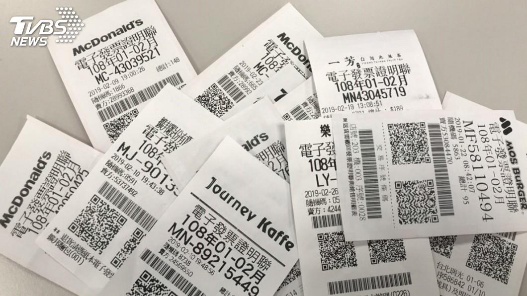 電子發票。示意圖/TVBS 3秒開一張發票!4人虛設公司詐領獎金42萬