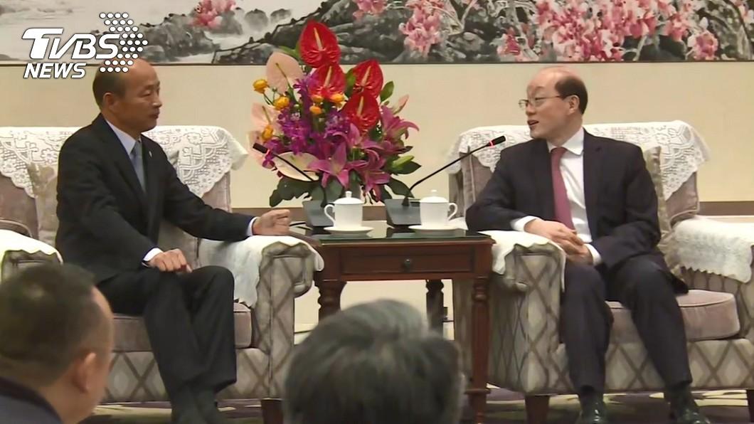 圖/TVBS 深圳行會面劉結一 韓國瑜強調「支持九二共識」