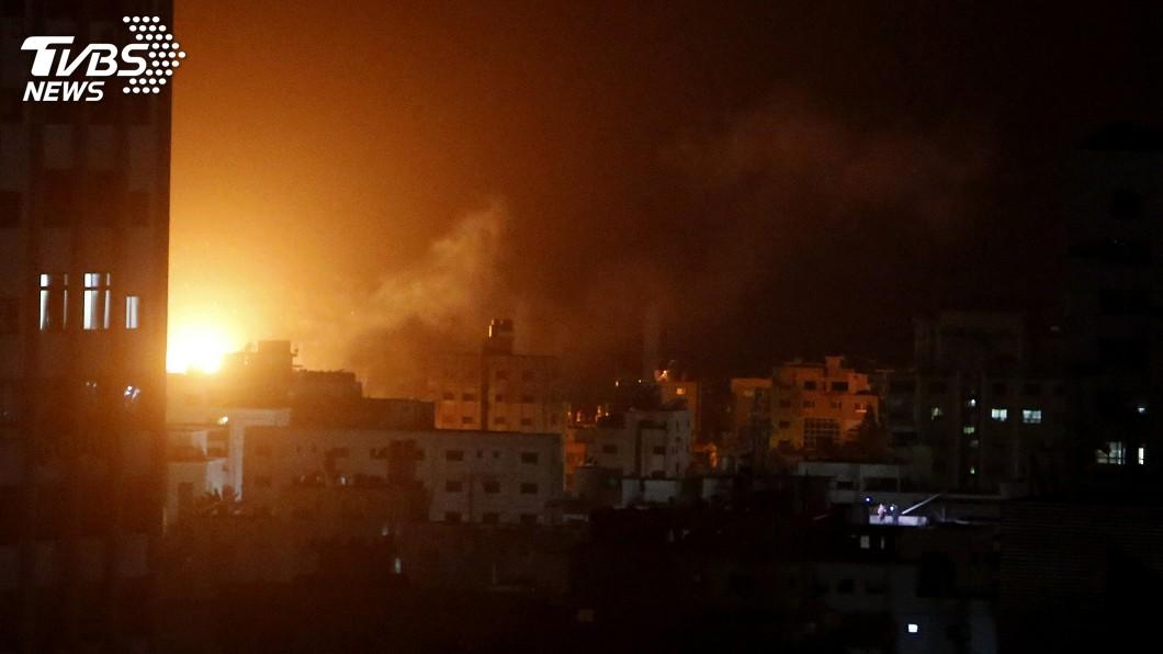 圖/達志影像美聯社 報復火箭來襲 以色列對加薩發動攻擊