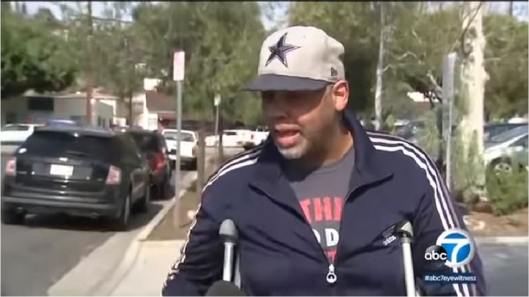 事後該名男子右腿骨折,住院3個月。(圖/翻攝自YouTube)