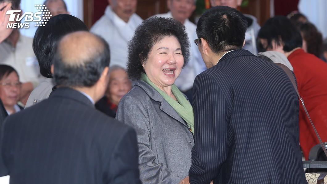 圖/中央社 陳菊:赴中與北京市長見面 曾提到馬總統