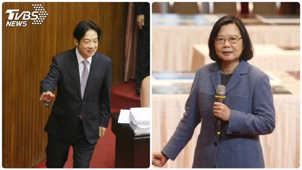 圖/中央社 初選前終於見面了! 蔡賴會談1個多小時
