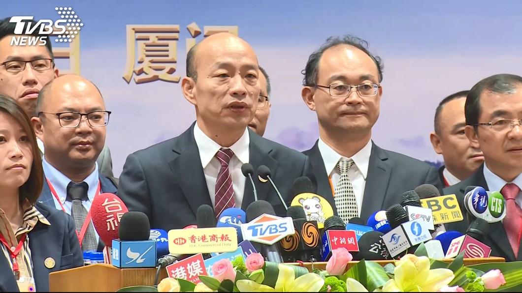 圖/TVBS 遭陳致中控外患罪 韓國瑜反酸:他要不要自首外遇罪?