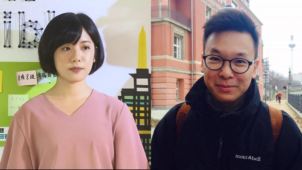 台北市政府副發言人黃瀞瑩(左)、太陽花學運領袖林飛帆(右)。圖/TVBS資料畫面、翻攝林飛帆臉書  「學姐」稱統獨假議題 林飛帆反問1句話
