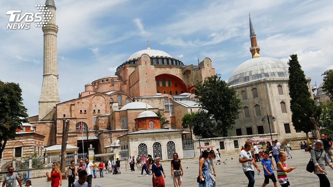 圖/達志影像路透社 回應川普 艾爾段計劃聖索菲亞博物館改回清真寺