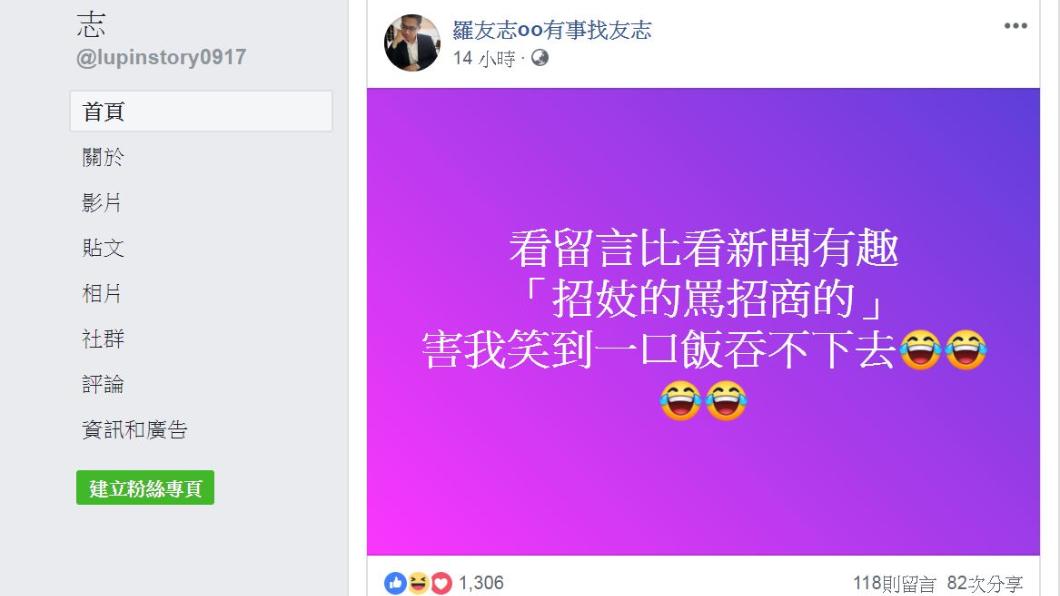 翻攝/羅友志臉書
