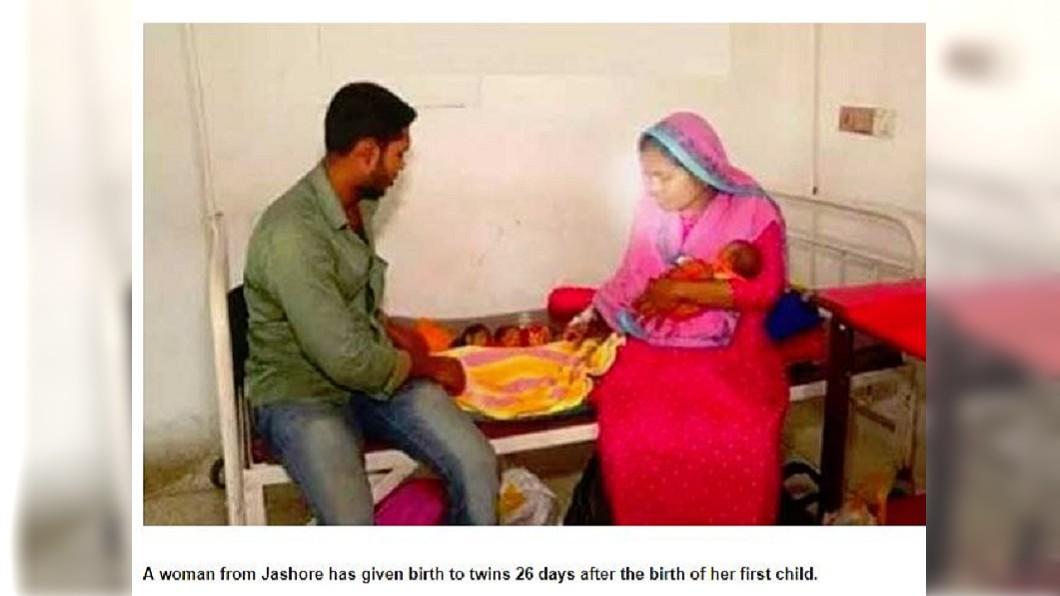 一下子迎來3名新生兒,這對夫妻卻是喜憂參半。(圖/翻攝自bdnews24.com)
