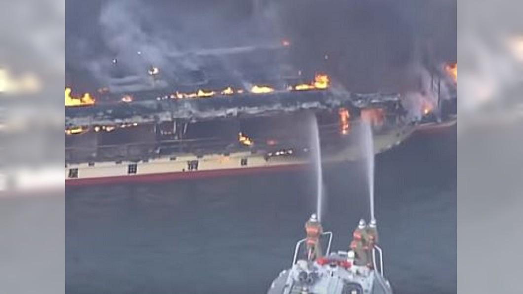 圖/翻攝自ANNnewsCH YouTube 東京櫻花入滿開期 賞櫻船起火燒光光