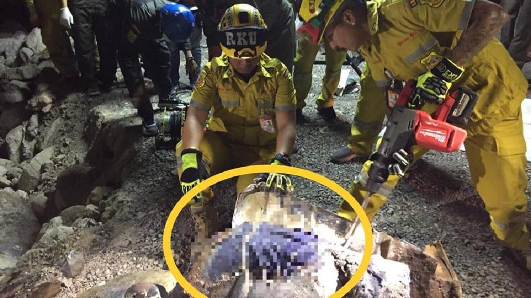 油桶內藏有一具已經腐爛的男姓屍體,追查就是該名失蹤修車師傅。(圖/翻攝自臉書)
