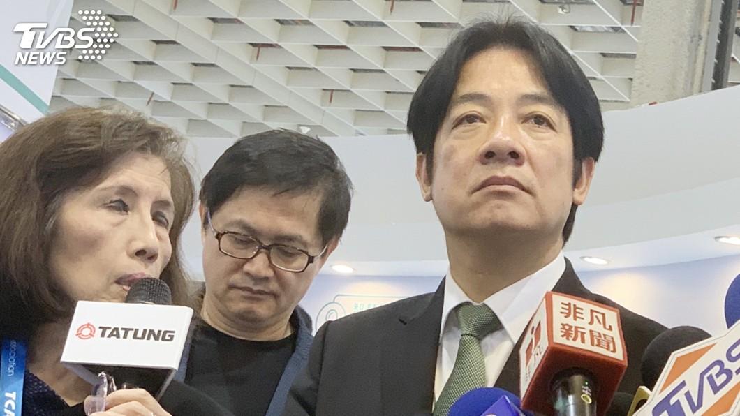 圖/中央社 賴清德參觀智慧城市展 總統返國後首次公開露面