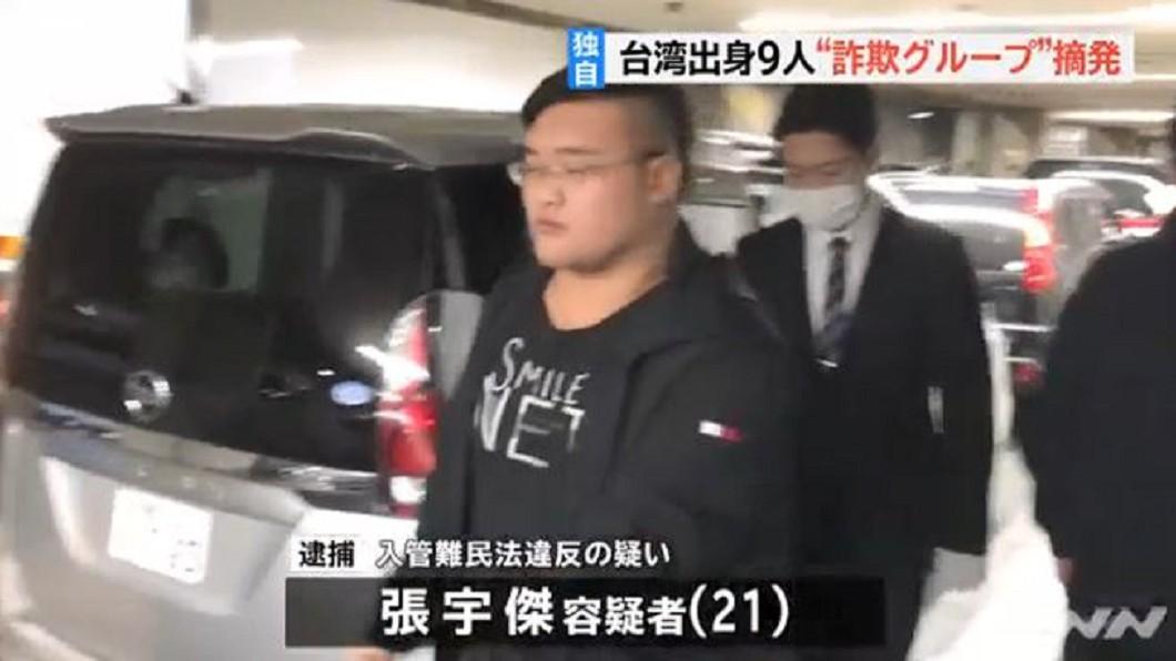 圖/翻攝自TBS NEWS YouTube 跨海到山梨縣電話詐騙 日警逮九名台灣人