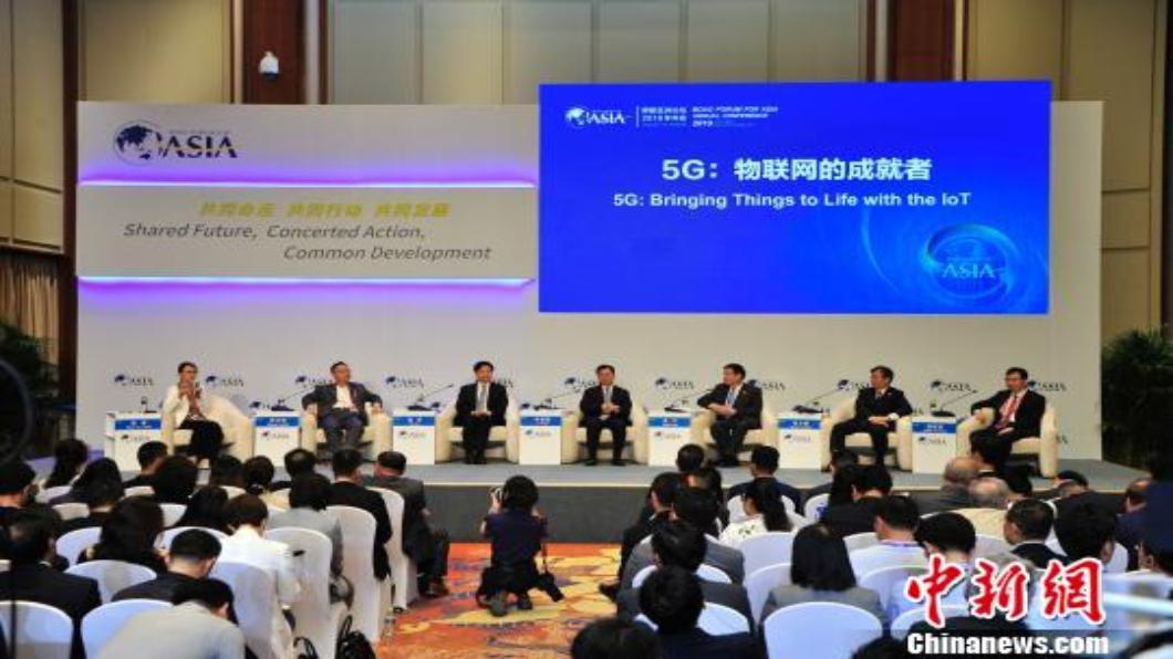 圖/翻攝自 中新網 博鰲上秀5G無人駕駛 小米:5G將帶領換機潮