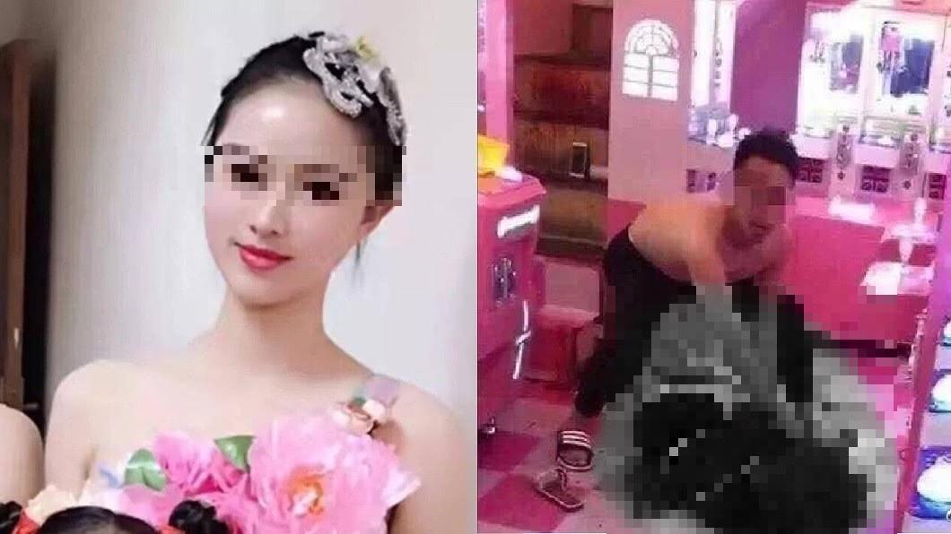 圖/翻攝自 微博 恐怖男當街割喉22歲女老師 母怒吼:殺人償命