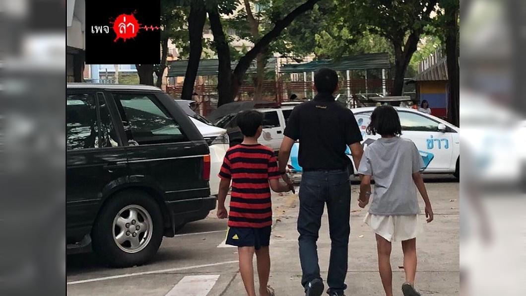 小姊弟被警方尋獲時,苦求不要通知他們媽媽。圖/翻攝自臉書laanews 4孩子墜樓剩2存活 媽媽不珍惜還虐打到他們逃家