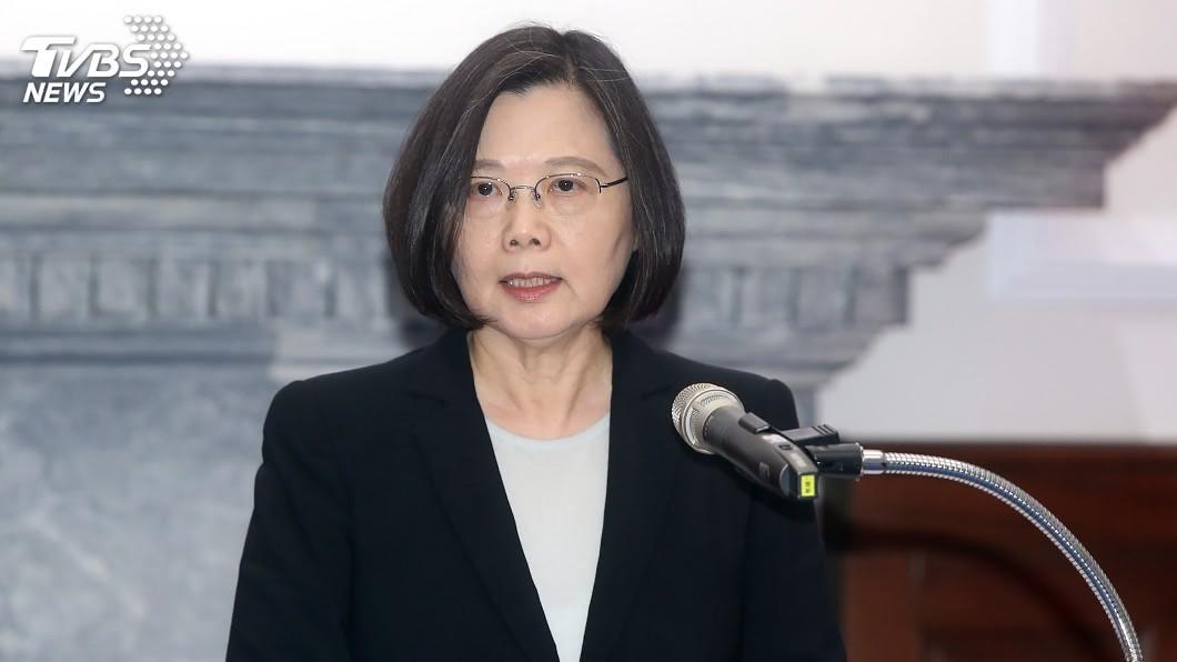 總統蔡英文。圖/中央社 韓國瑜主張恢復18% 小英回嗆:勿為選舉挑起對立