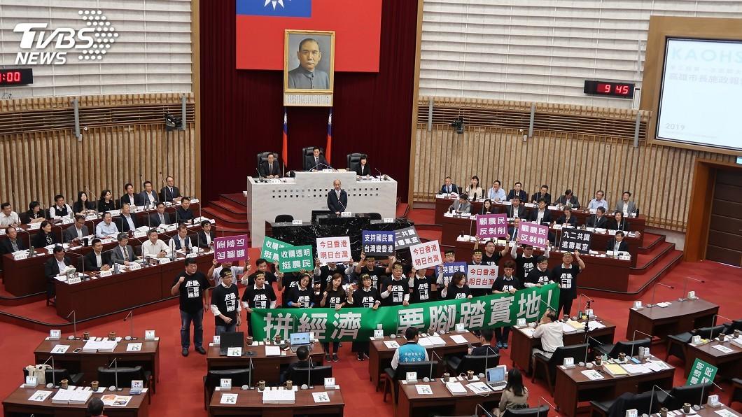 圖/中央社 韓國瑜說不考量2020 民進黨團疑等黃袍加身