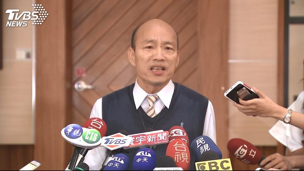 圖/TVBS 議員指高銀虧損促查 韓國瑜:若有新事證就送辦