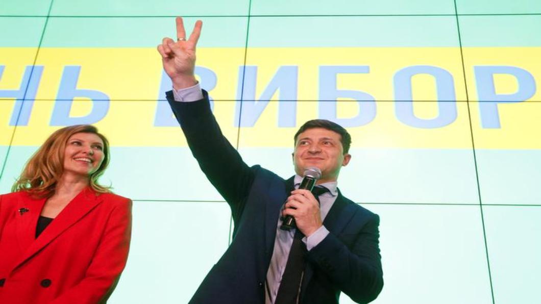 圖/達志影像路透 烏克蘭大選 演員問鼎元首寶座 希望大