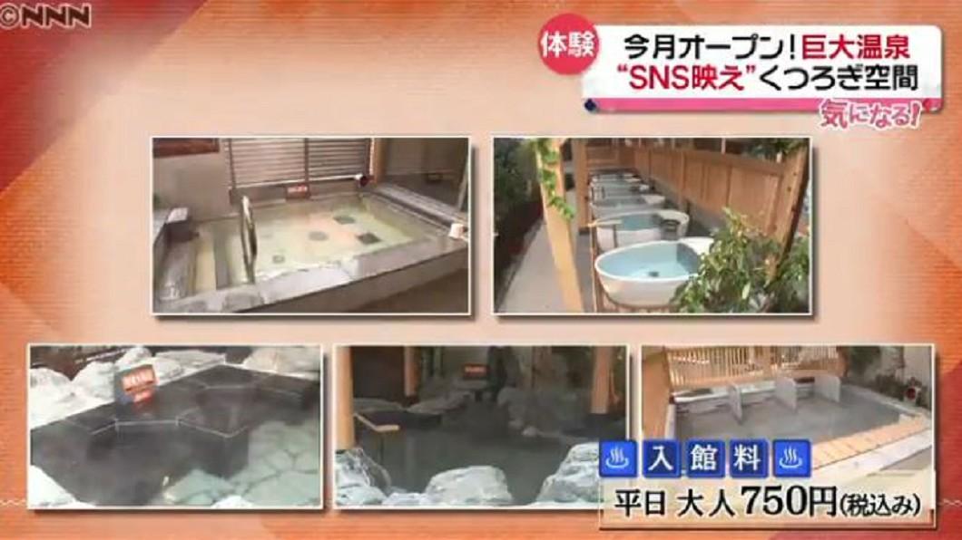 圖/翻攝自Nippon News Network 東京郊區巨大錢湯 日本首噴射水流溫泉
