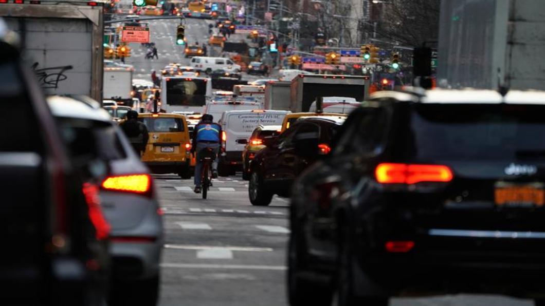 圖/達志影像路透 開全美風氣之先 紐約市2021年徵塞車費
