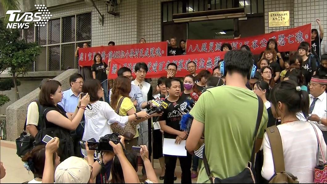 纏訟10年的小林村國賠案,日前高院更一審判決災民勝訴。(圖/TVBS) 小林村國賠案打10年…韓國瑜放棄上訴 葉毓蘭4字盛讚