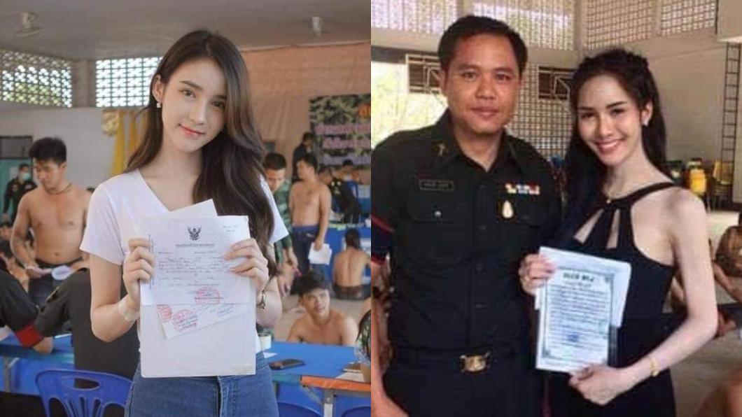 翻攝/臉書「泰國清邁象」 彷彿像在模特兒海選!泰國徵兵現場大批「女神」報到