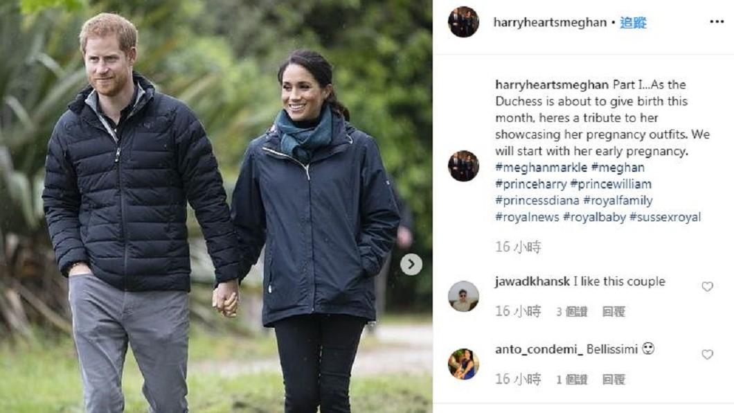 圖/翻攝自harryheartsmeghan instagram 哈利梅根IG創世界紀錄 六小時百萬人追蹤