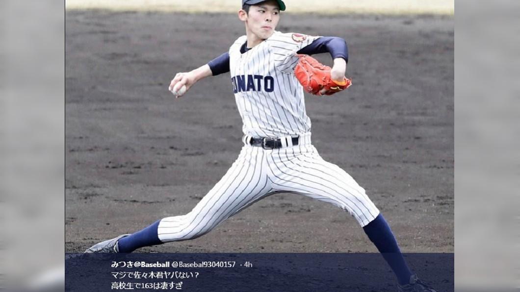 佐佐木朗希。圖/翻攝自推特みつき@Baseball 日高中最速男主投飆13三振 火腿隊公開表明第一指名