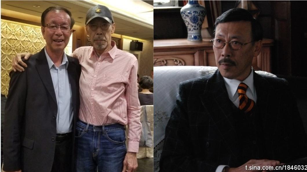 香港資深媒體人曾醒明(左)來台巧遇老友馮淬帆,留下合照。圖/翻攝自《微博》