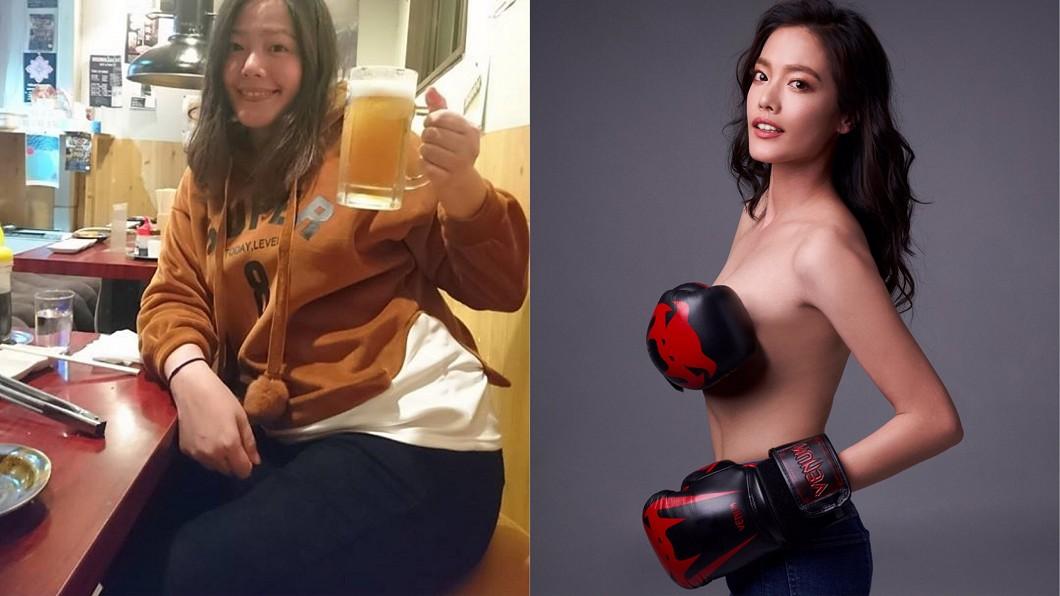 圖/艾迪昇提供、陳翊萱臉書 曾胖到想退演藝圈!她靠這2招狂鏟21KG賺6位數代言