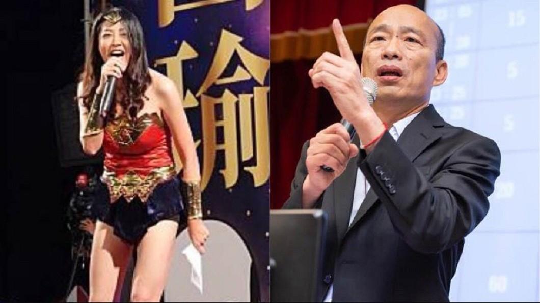 許淑華成為韓國瑜輔選大將,竟是韓冰從中促成。合成圖/翻攝許淑華臉、韓國瑜臉書 「神力女超人」與韓國瑜合作 牽線的人是她!