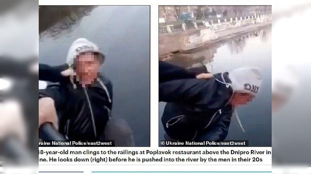 烏克蘭2名年輕男子想要當網紅,竟然將一名中年大叔推下河,導致對方溺斃身亡。(圖/翻攝自每日郵報) 2男為想當網紅…隨機擄人逼跳橋 惡意推下河害溺死