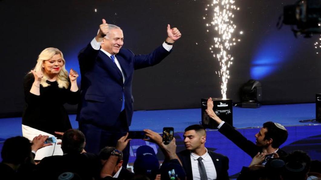圖/達志影像路透 以色列總理納坦雅胡 挑戰五度連任