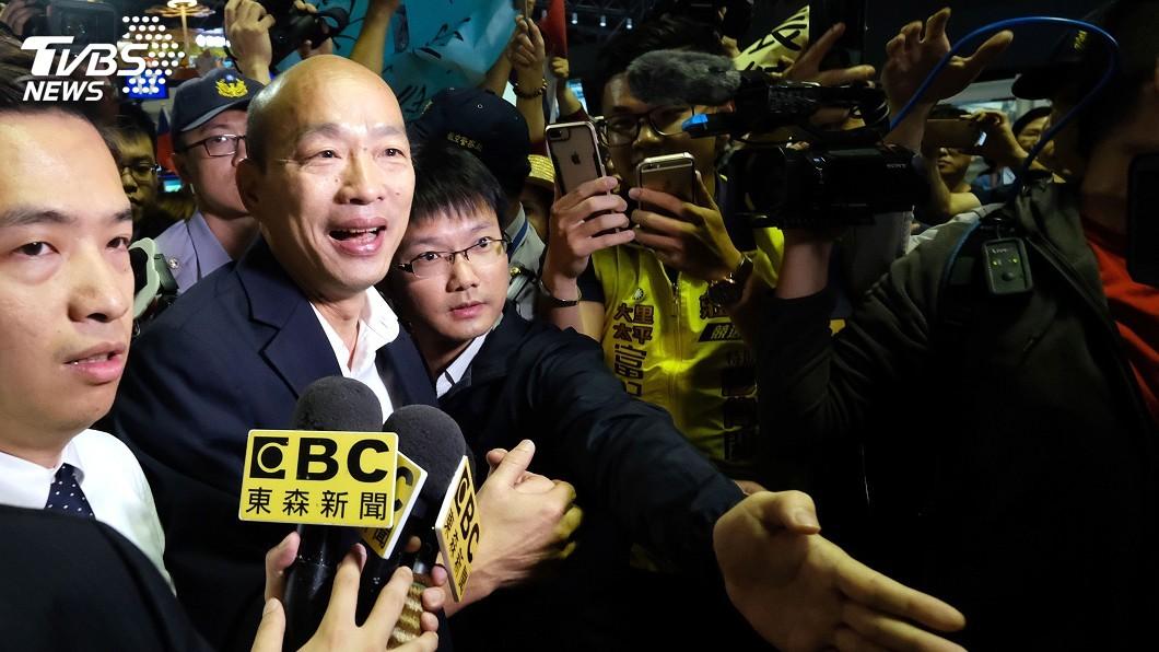 圖/中央社 韓國瑜抵波士頓 談哈佛活動強調客隨主便