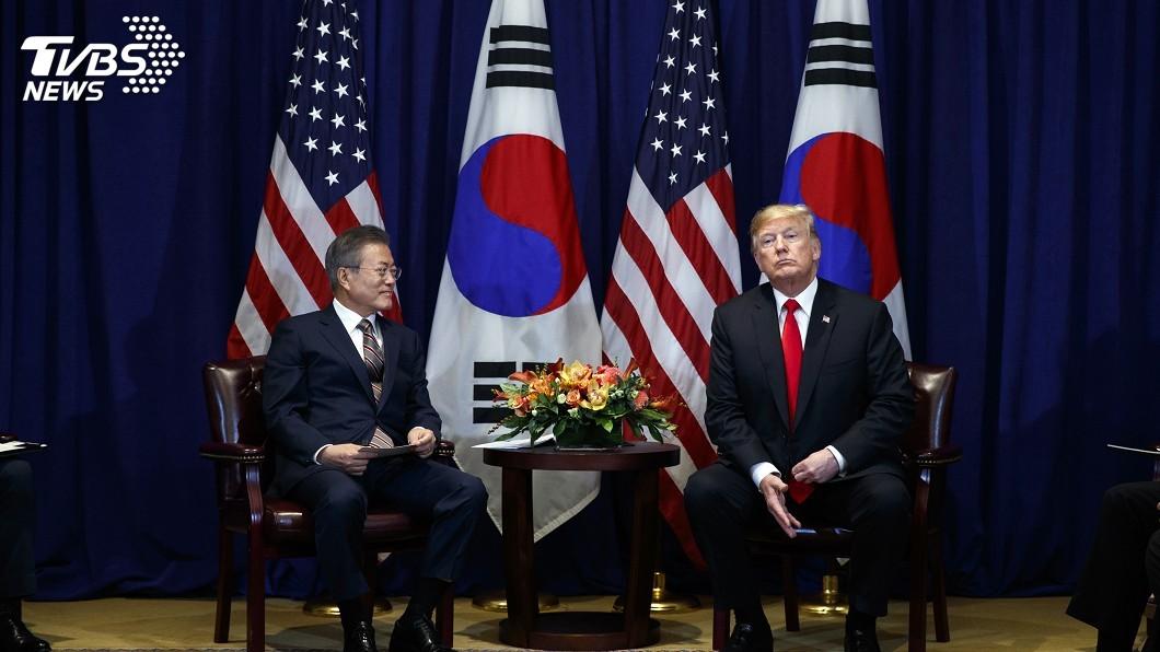 圖/達志影像美聯社 文在寅將會川普 北韓全面非核化成焦點
