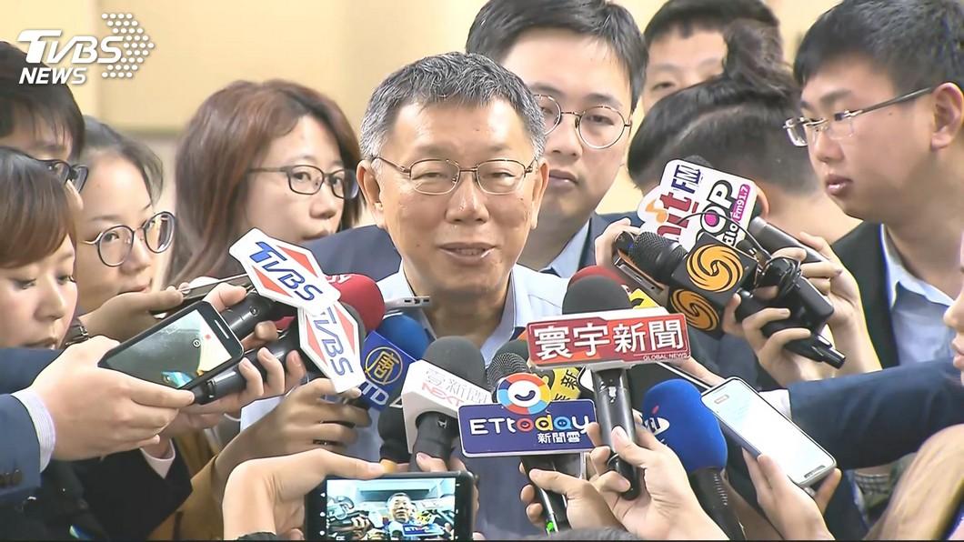 圖/TVBS 外界預測6月宣布選總統 柯文哲笑:他被託夢?