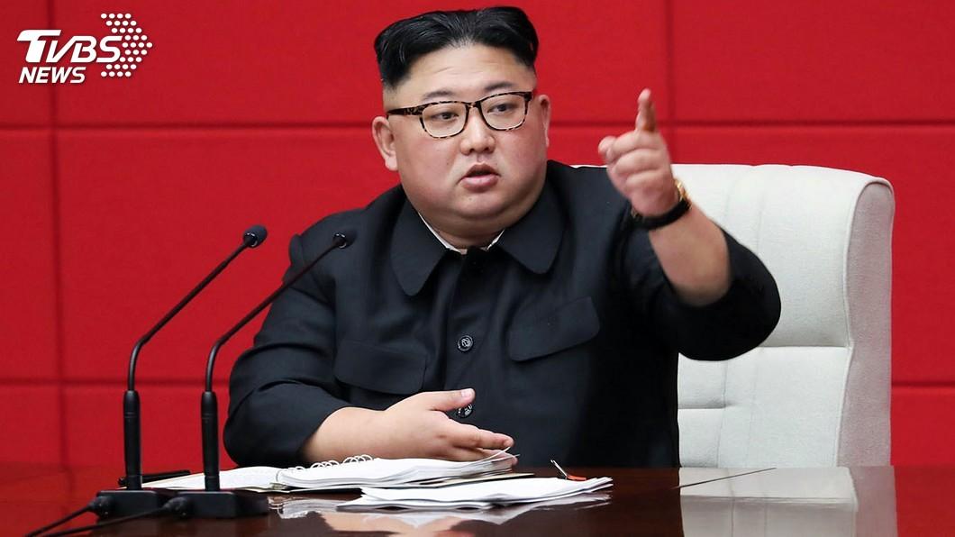 圖/達志影像美聯社 金正恩現身表態 給制裁北韓國家「嚴重打擊」