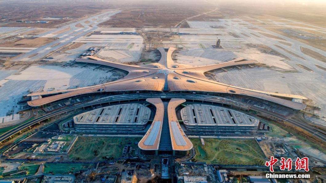 圖/翻攝自 中新網 800億人民幣興建 北京大興機場內裝.首亮相!