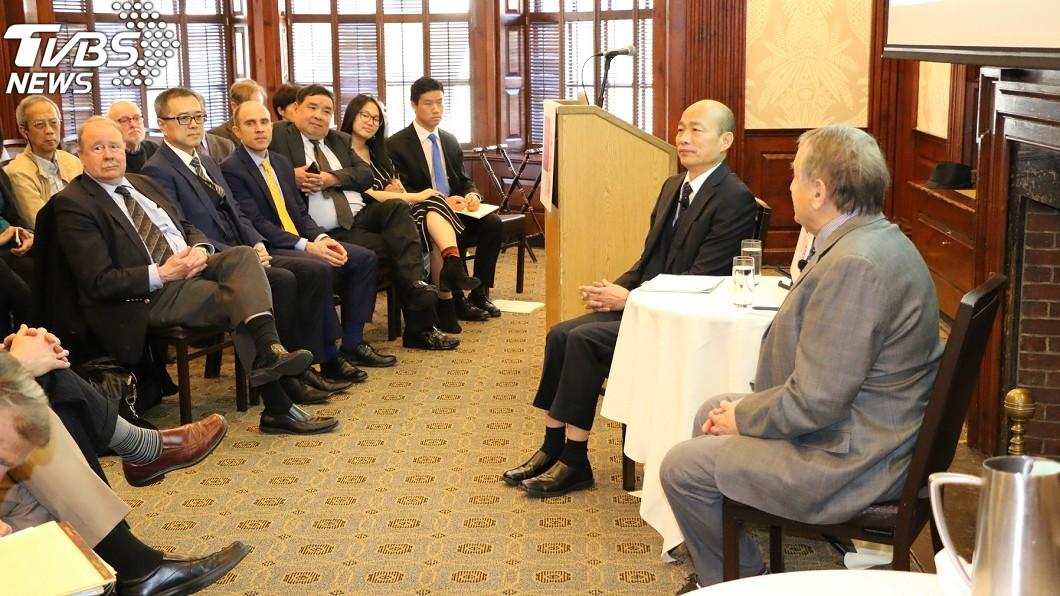 圖/中央社 韓國瑜最新金句!哈佛演講高喊:台灣未來靠「這20字」