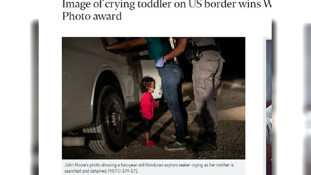 圖/翻攝自The Straits Times 邊境移民被迫與骨肉分離 照片獲新聞攝影獎
