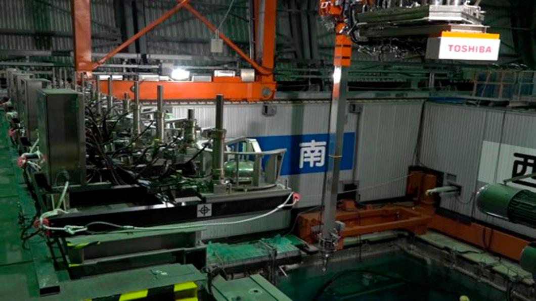 福島第一核電廠三號機燃料池上方作業區。圖/達志影像美聯社