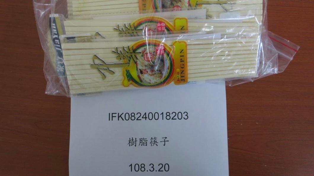 圖/食藥署提供 中國塑膠筷驗出致癌甲醛 逾3萬雙遭邊境攔下