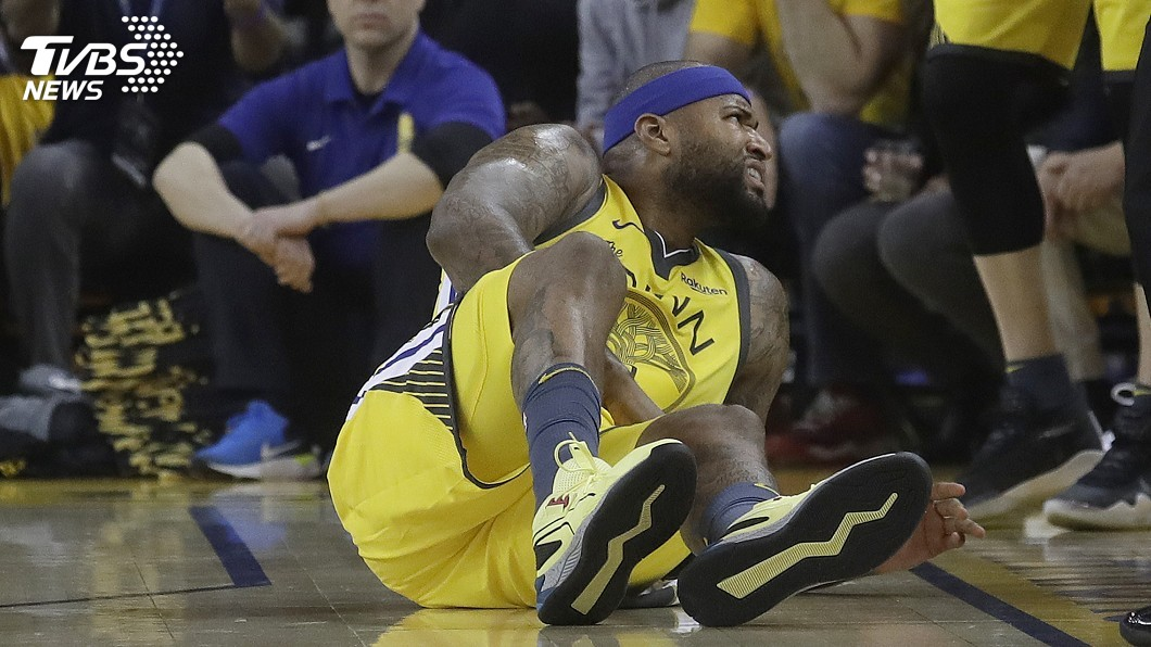 圖/達志影像美聯社 NBA勇士柯森斯左腿肌撕裂 季後賽恐全報銷