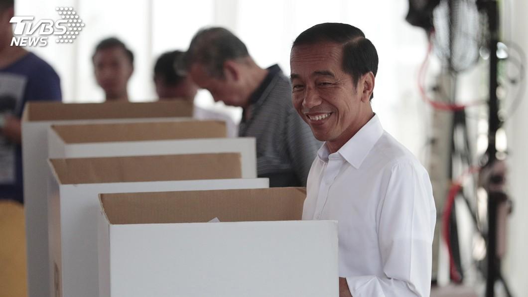 圖/達志影像美聯社 印尼總統國會大選登場 佐科威對選情樂觀