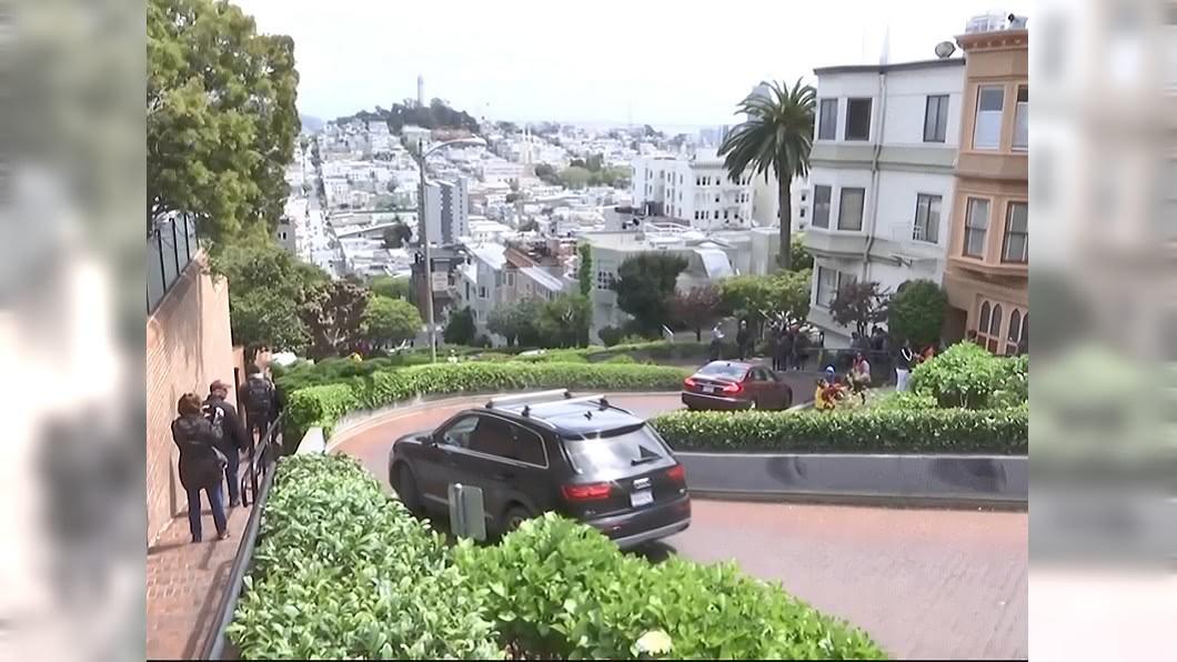 圖/翻攝自KRON 4 YouTube 車滿為患! 舊金山九曲花街擬推新制收費