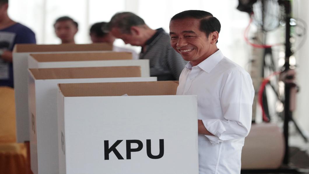 圖/達志影像美聯社 印尼大選1.9億人投票 總統佐科威贏面大